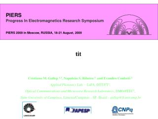 PIERS Progress In Electromagnetics Research Symposium