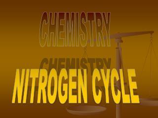 CHEMISTRY NITROGEN CYCLE
