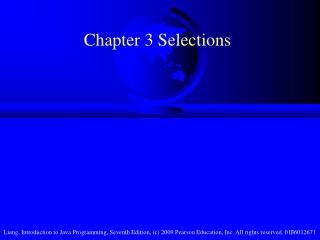 Chapter 3 Selections