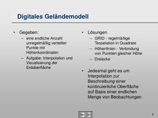 Digitales Gel�ndemodell