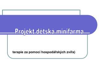 terapie za pomocí hospodářských zvířa)