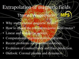 Extrapolation of magnetic fields