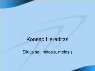 Konsep Hereditas
