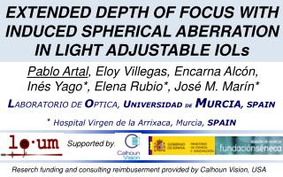 EXTENDED DEPTH OF FOCUS WITH INDUCED SPHERICAL ABERRATION IN LIGHT ADJUSTABLE IOLs