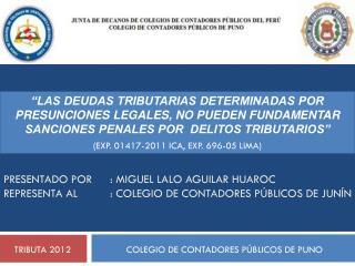 TRIBUTA 2012      COLEGIO DE CONTADORES PÚBLICOS DE PUNO