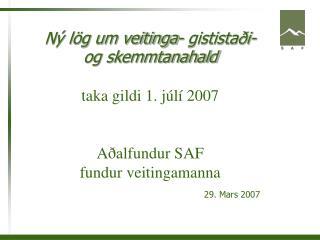 29. Mars 2007