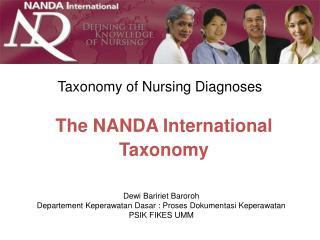 Taxonomy of Nursing Diagnoses