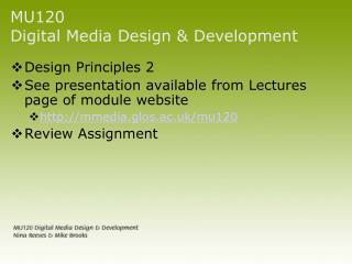 MU120  Digital Media Design & Development