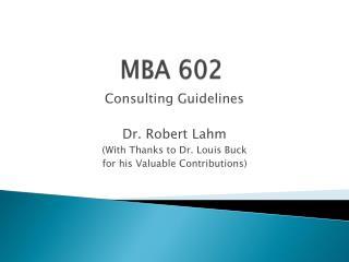 MBA 602
