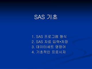 SAS  기초