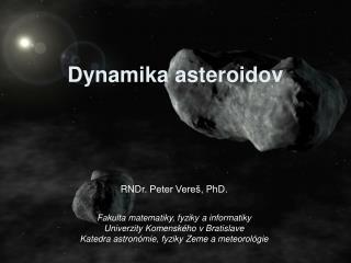 Dynamika asteroidov