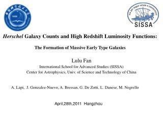 Lulu Fan International School for Advanced Studies (SISSA)