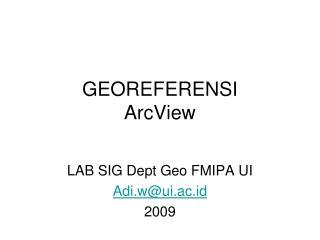 GEOREFERENSI ArcView