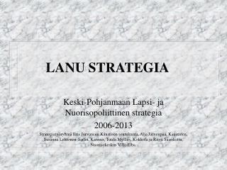 LANU STRATEGIA
