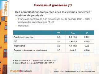Psoriasis et grossesse  (1)