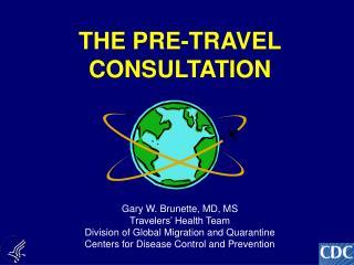 THE PRE-TRAVEL CONSULTATION