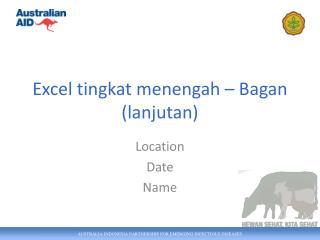 Excel  tingkat menengah  –  Bagan  ( lanjutan )