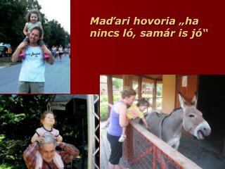 "Maďari hovoria ""ha nincs ló, samár is jó"""