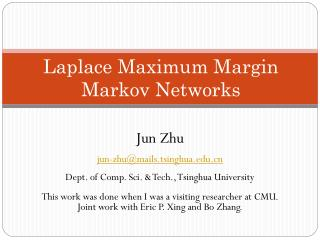Laplace Maximum Margin Markov Networks