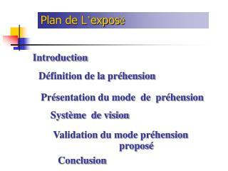 Plan de L � expos �