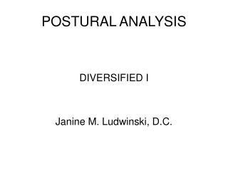 POSTURAL ANALYSIS