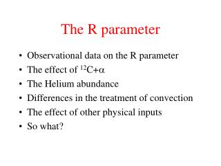 The R parameter