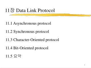 11 ?  Data Link Protocol