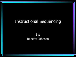 Instructional Sequencing