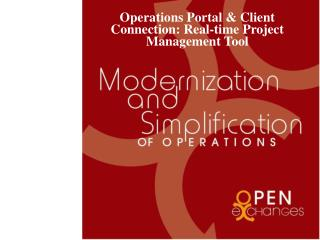 Operations Portal & Client Connection: Real-time Project Management Tool