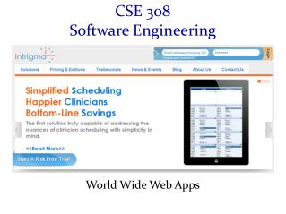 CSE 308 Software Engineering