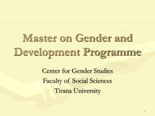 GENDER AND DEVELOPEMENT