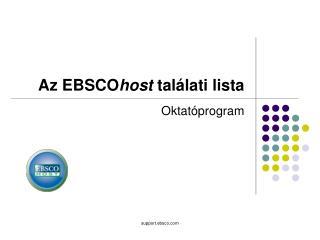 Az EBSCO host  találati lista