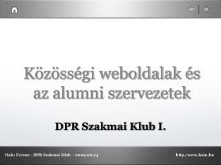 Közösségi weboldalak és az alumni szervezetek