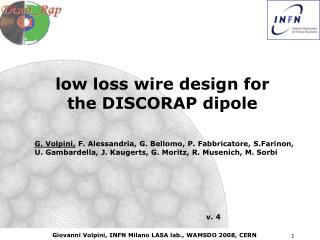 low loss wire design for  the DISCORAP dipole