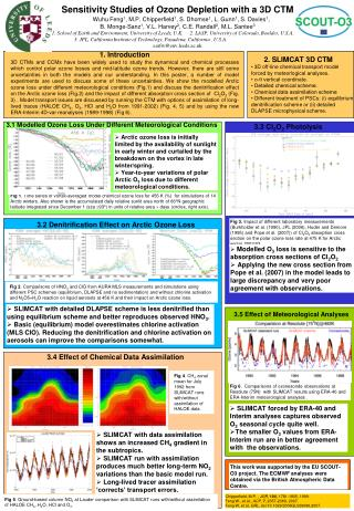 Sensitivity Studies of Ozone Depletion with a 3D CTM
