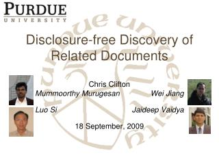 Disclosure-free Discovery of Related Documents