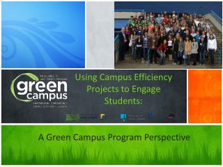 Using Campus Efficiency Projects to Engage Students: