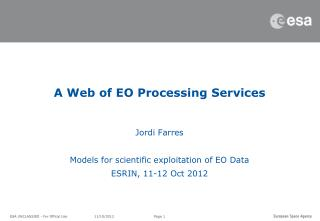 A Web of EO Processing Services