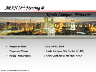 APAN 28 th  Meeting @