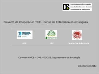 Proyecto de Cooperaci�n TC41. Censo de Enfermer�a en el Uruguay