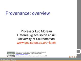 Provenance: overview