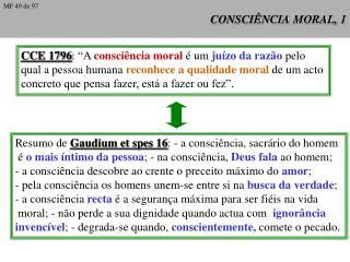 CONSCIÊNCIA MORAL, 1