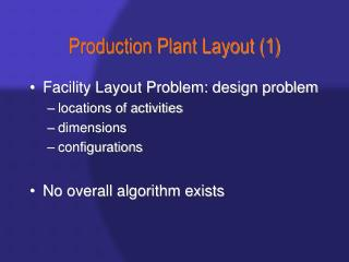 Production Plant Layout 1