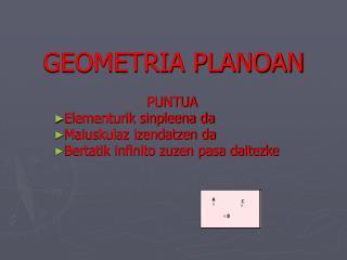 GEOMETRIA PLANOAN