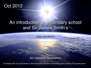 Jon Lawrence, Headteacher