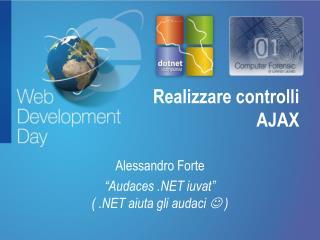 Realizzare controlli  AJAX