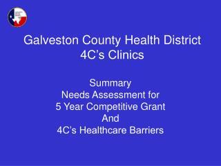 Galveston County Health District 4C's Clinics