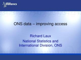 ONS data – improving access