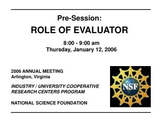 2006 ANNUAL MEETING Arlington, Virginia