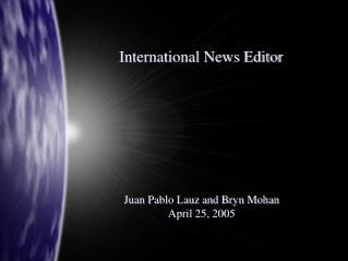 International News Editor